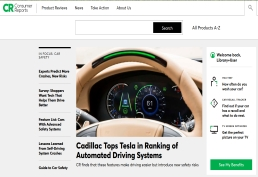 Consumer Reports landing page