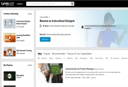 Lynda from Linkedin landing page