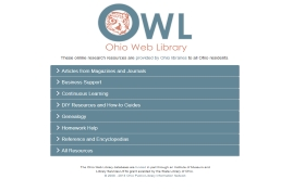 Ohio Web Library landing page