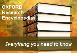 Oxford Research Encyclopedias landing page